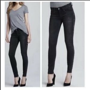 Blank NYC metal embellished skinny jeans black 29